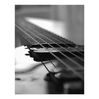 Black and White Guitar Personalized Letterhead