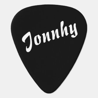 black and white guitar pick