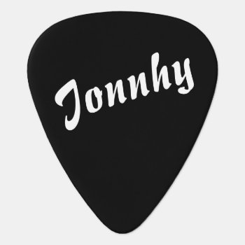 Black And White Guitar Pick by mixedworld at Zazzle