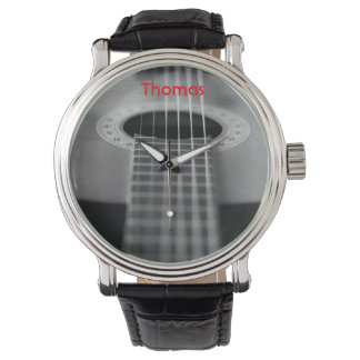 Black and White Guitar Watch