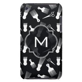 Black and White Hair fashion iPod Touch Case