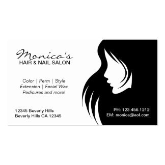 Black and White  Hair Salon with Appointment Date Business Card Template
