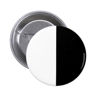 Black and White Half and Half 50/50 Ying Yang Life 2 Inch Round Button