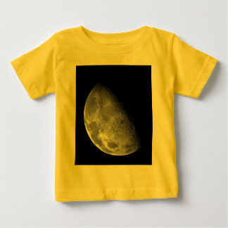 Black and White Half Moon Image Baby T-Shirt