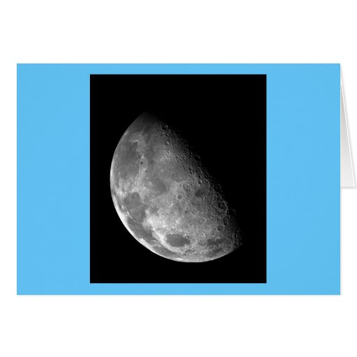 Black and White Half Moon Image Greeting Card