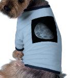 Black and White Half Moon Image Pet Clothing