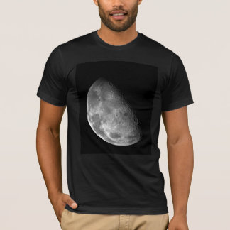 Black and White Half Moon Image T-Shirt