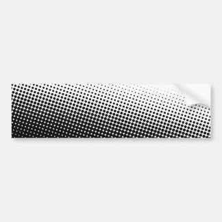 Black and White Halftone Bumper Sticker