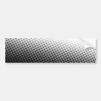 Black and White Halftone Car Bumper Sticker