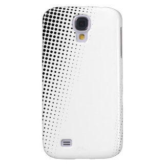 Black and White Halftone Dots Textured Galaxy S4 Cover