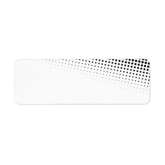 Black and White Halftone Dots Textured Label
