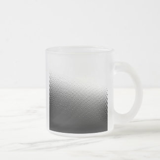 Black and White Halftone Frosted Glass Coffee Mug