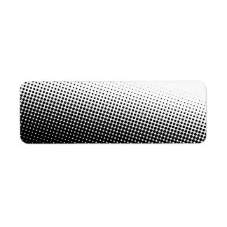 Black and White Halftone Label