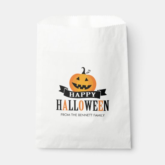 Black and White Halloween Favor Bag