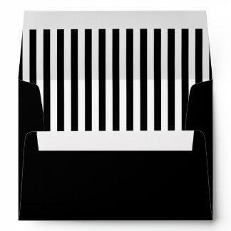 Black and White Halloween Invitation Envelope