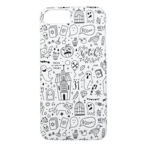 Black and White Halloween Phone Case