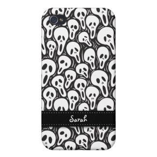 Black and White Halloween Skulls 4G Case iPhone 4/4S Case