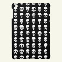 Black and White Halloween Skulls Cover For The iPad Mini