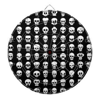 Black and White Halloween Skulls Dartboards