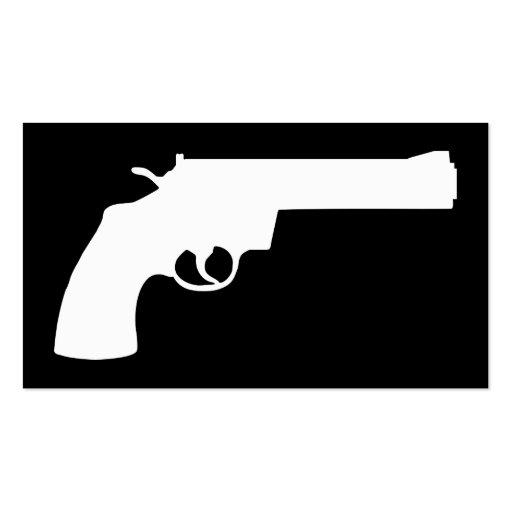 black and white hand gun business card
