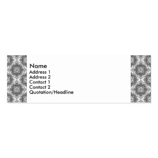 Black and white handpainted doodles Double-Sided mini business cards (Pack of 20)
