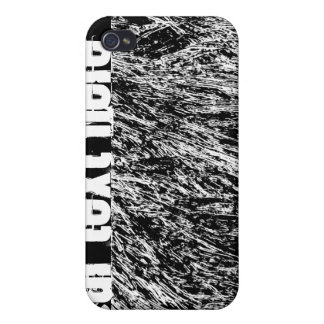 Black and white hard rock scratchy design iPhone 4/4S cover