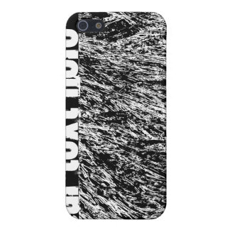 Black and white hard rock scratchy design iPhone SE/5/5s cover