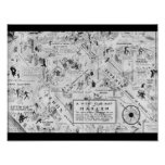 Black And White Harlem Night Clubs Map Poster at Zazzle
