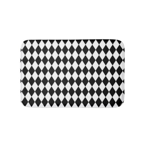 black and white bathroom mats black and white harlequin bath mat zazzle 22725