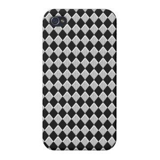 Black and White Harlequin Diamond iPhone 4/4S Case