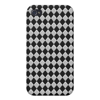 Black and White Harlequin Diamond iPhone 4 Cover
