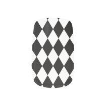 Black and WHite Harlequin Nails Minx Nail Art