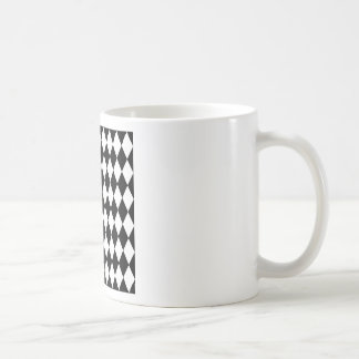 Black and White Harlequin Pattern Coffee Mug