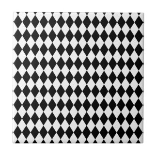 Black and White Harlequin Pattern Tile