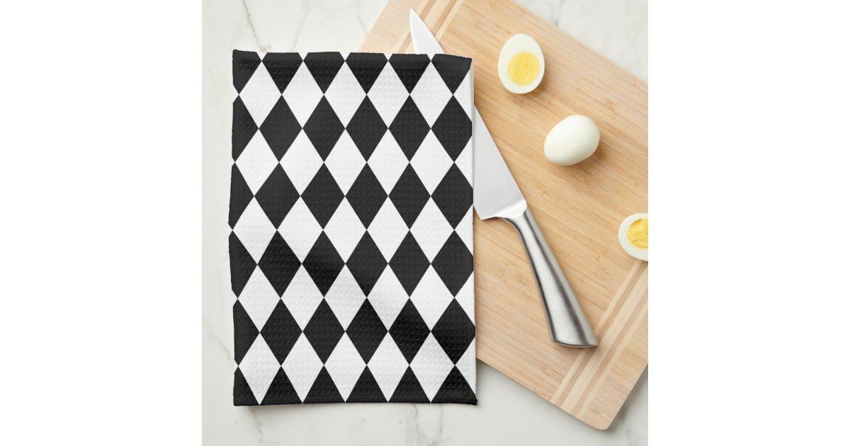 Black And White Harlequin Towels Zazzle