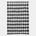 Black and White Harlequin Towels