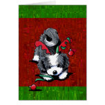 Black and White Havanese Christmas Stationery Note Card