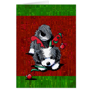 Black and White Havanese Christmas Card
