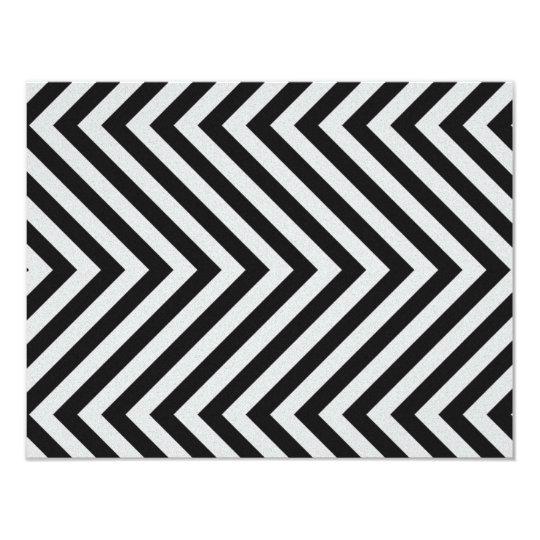Black and White Hazard Stripes Textured Card