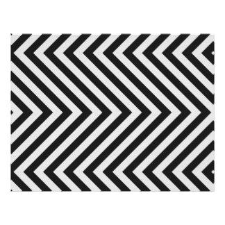 Black and White Hazard Stripes Textured Flyer