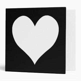 Black and White Heart Vinyl Binder