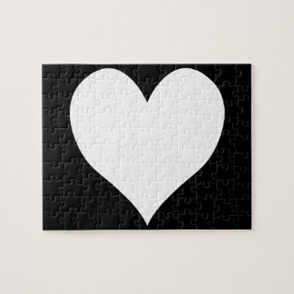 Black and White Heart Jigsaw Puzzle