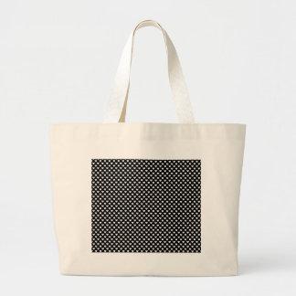 Black and White Heart Pattern. Jumbo Tote Bag