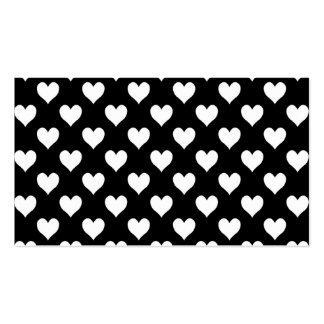 Black and White Heart Pattern Business Card Templates