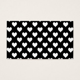 Black and White Heart Pattern Business Card
