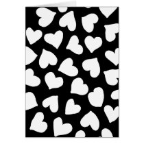 Black and White Heart Pattern Card