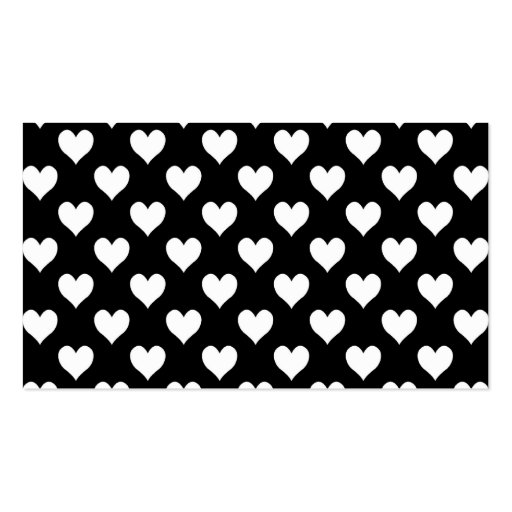 Black And White Heart Pattern Double Sided Standard