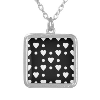 Black and White heart pattern Personalized Necklace