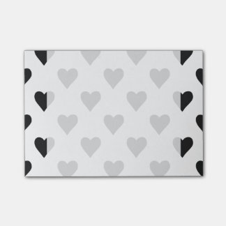 Black And White Heart Pattern Post-it® Notes