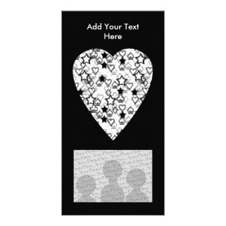 Black and White Heart. Patterned Heart Design. Card